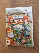 Nintendo Wii My Sims Kingdom-condizione molto buona con MANUALE COMPLETE 1ST POST