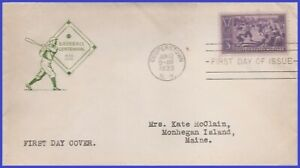 USA5 # 855 ADDR HOUSE OF FARNAM FDC Baseball 100 years