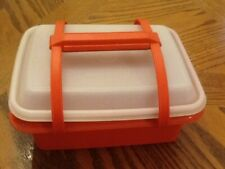 Tupperware Orange Pack n Carry Lunch Box / Ice Cream Box #1254