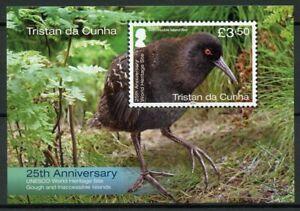 Tristan da Cunha Birds on Stamps 2020 MNH Gough UNESCO World Heritage 1v M/S