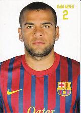 DANI ALVES - FC BARCELONA - OFFIZIELLE AUTOGRAMMKARTE 2011/2012 11/12 UNSIGNIERT