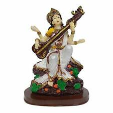 Goddess Saraswati Devi Mata Maa Mother Statue Idol Figurine 7.5 inches