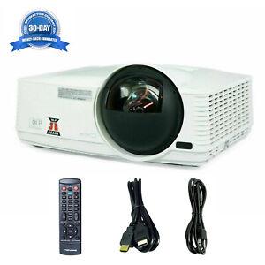 Short-Throw Mitsubishi WD385U-EST DLP 1080p Projector 2800 ANSI 3D HDMI w/Remote