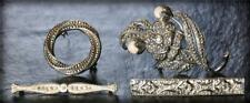 Vintage Brooch Lot KJL Kenneth Jay Lane Germany Rhinestone Pearl Silver Tone Pin