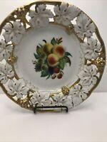 Antique Reticulated German Porcelain Bowl By Carl Tielsh And Co  Tpm Co