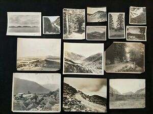 Vintage 1910-30s New Hampshire Views White Mountains & Early Auto Photo Lot 14pc