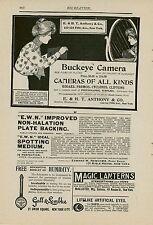 1900 Buckeye Camera Ad New York City Dealer E. & H.T. Anthony NY