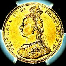 Very Rare 1888 S Queen Victoria Australia Sydney Mint Gold Sovereign PCGS MS62
