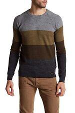NWT Diesel Striped Pullover Knit Jumper Mens Sweater XL XLarge Nylon Sweatshirt