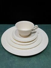 Lot Of 4 -5 Piece Setting of Vintage Wedgwood Patrician Cream China, England