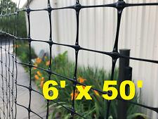 Strong Garden Fencing 6' x 50' Black Garden protection Free Shipping