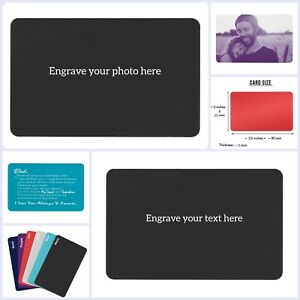 Personalized Photo/Text Custom Engraved Metal Wallet Mini Love Insert Card Gift