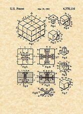 Patent Print - Rubik's Cube 1983 - Art Print Erno Rubik. Ready To Be Framed!
