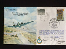 SIGNED VICTORIA CROSS WINNER First Day Issue WWII RAF Captain Leonard Trent