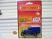 Matchbox Mb38 1983 Blue Model A Ford Van Blank with No Tampo Print Nu in Bubblpk