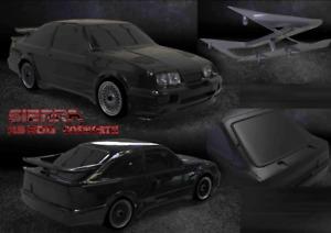 RS500 ROAD CAR 257mm for tamiya tt01 tt02 tl01