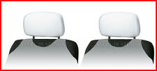 2 X HEADREST PROTECTIVE COVERS CAR for Citroen  - white universal