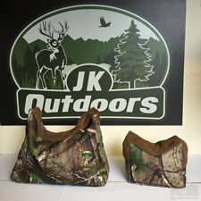 Camo Real Tree Front And Back Shooting Rest Bag Bench rest