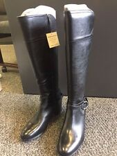 MARC FISCHER KACEE BLACK LEATHER KNEE HIGH BOOT - SIZE 11 WIDE CALF