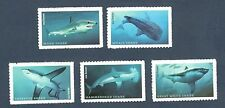 5223-27 Sharks Set Of 5 Forever Mint/nh Free Shipping