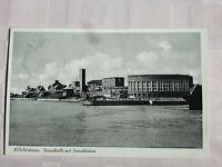 Ansicht 1954 Wilhelmshaven Strandhalle Strandhäuser / Poststempel Echtfoto Marke