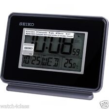 Seiko LCD Thermometer Daul Alarm QHL068K Snooze Daylight saving time Calendar