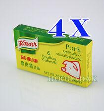 4 Packs of Knorr 6 Bouillon Cubes - Pork Flavor 2.5 oz
