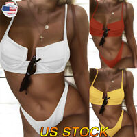 2019 Women Bikini Swimsuit Two Piece Bathing Set Padded Swimwear Beach Wear New