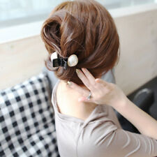 Elegant Jewelry Plastic Big Pearl Clips Hair Claws Hair Accessories Hairpins