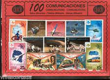 100 sellos diferentes mundiales en usado @@ Tema :  COMUNICACIONES @@