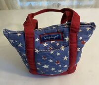 Longaberger Homestead  Red White Blue Stars Purse Bag Small Tote Patriotic