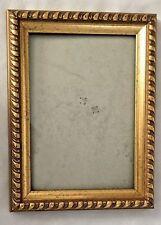 "Goldtone Wood Scalloped 6.5X8.5"" Frame Holds 5X7"" Photo"
