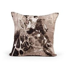 Ex Dunelm Beige Animal Giraffe Tapestry 45cm X45cm Square Cushion With Inner Pad