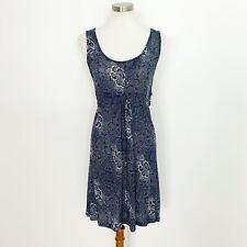 Odd Molly Women's Dress size Small Sleeveless Blue Crochet Back Detail