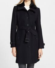 Authentique Trench Manteau Burberry Laine uk 10 38 40fr - Neuf