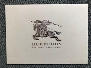 Luxury Designer Burberry Prorsum Receipt Envelope Holder - Medium - Beige