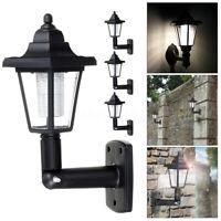 4 X Solar Powered Wall Lantern Light Lamp LED Outdoor Garden Fence Waterproof
