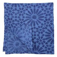 Stoff-Servietten-Set (50x50 cm) 100% Leinen, Blau, Orientalisch bedruckt