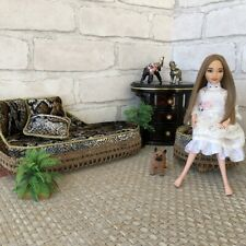 Sofa and soft chair. Furniture for dolls 1: 6