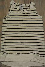 LYDIA JANE Girls WHITE w/Black STRIPES Tank Top Dress Size 8 **EUC**