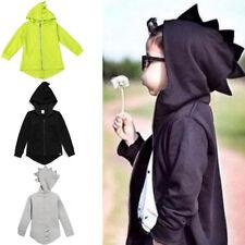 Kids Baby Boys Dinosaur Hoodies Coat Jacket Sweater Tops Hooded Jumper Outwear