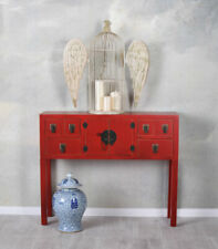 Chine Console Rouge Table de Mur Table Console Feng Shui Meuble Buffet Commode