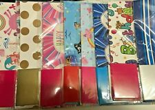 2 SHEETS QUALITY  GIFT  WRAPPING PAPER - BIRTHDAY WRAP Pirates or Unicorn