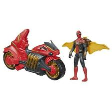Marvel Spider-Man 6-Inch Jet Web Cycle Vehicle and Action Figure Toy With