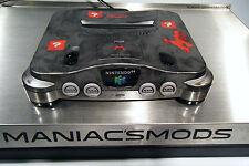Nintendo 64 Custom Super Mario N64 Console w/ RGB , logo glow, leds,plays JP