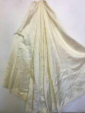 Vintage 1960s PETTICOAT Bustle Wedding Under Skirt Lace Appliqué Satin