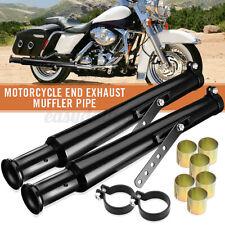 2x Motorrad Auspuff Blende Schalldämpfer Auspufftopf Metal Für Harley Cafe Racer