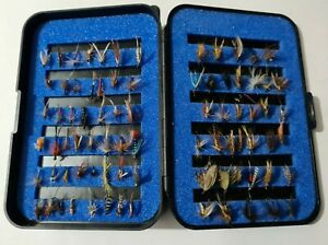 MASTERLINE FLY BOX WITH SALMON AND TROUT FLIES ALL AS PICTURED.