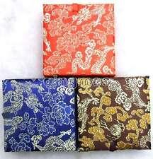 WHOLESALE 10 Multi Purpose Multicolor Square 9*9*3cm China Silk Jewelry gift box