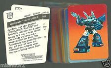 Transformers Action Cards 1985 Hasbro FINISH YOUR SET singles listed 1-191